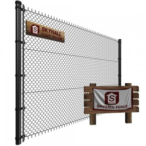 chain link fences 3d illustration