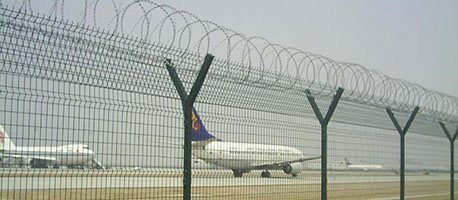 airport strong security fencing