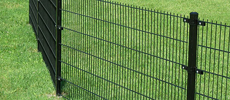 double wire fence garden