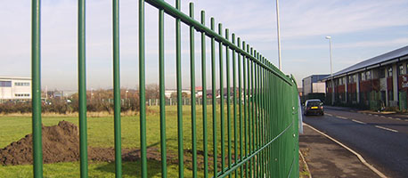 double wire fence green