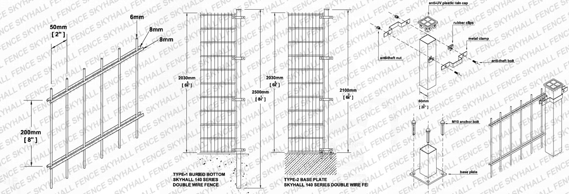 double wire fencing cad